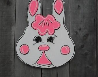 Easter  - Bunny  - Spring door hanger - Easter door hanger - Spring decor - Easter door decor