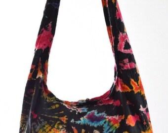 Tie Dye shoulder bag. Messenger,Hippie, Gypsy Sling,Hippy, Hobo, Crossbody, Monk, Alms, Beach.