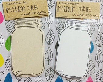 Mason Jar Label Stickers
