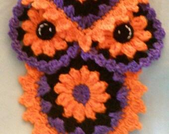 Crochet Owl Halloween Potholder/hotpad Pattern Only