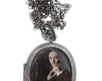 Sansa Stark Locket & Gift Box, Sophie Turner, Game of Thrones, Necklace, Game of Thrones Jewellery, Game of Thrones Jewelry, Gift