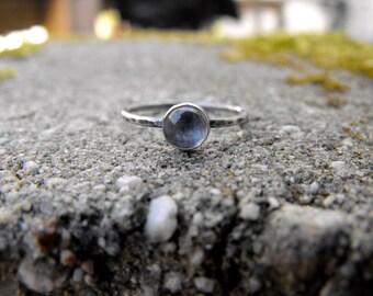 Moonstone Ring Sterling Silver Moonstone Stacking Ring Silver Moonstone Ring