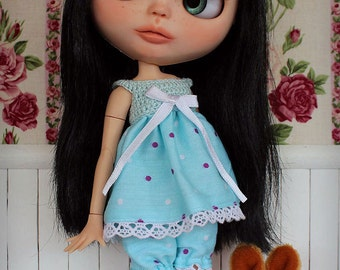 Set for Blythe [blouse + bloomers]