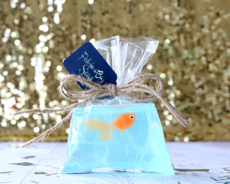 Orange fish soap fish in a bag soap kids soap novelty for Salt bath for fish