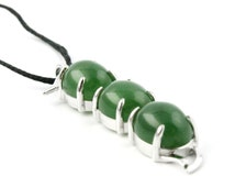 Canadian Nephrite Jade Pendant, Pea Pod