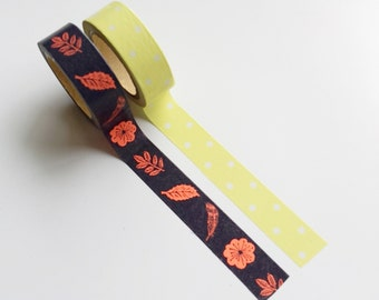 Washi tape leaves & dots (set of 2 rolls from Hema)