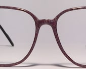 Vintage eyewear. Made in Italy. Pale lavender. Large size. Excellent condition and quality! Women. Men. Artist. Writer. Hipster. Techie.