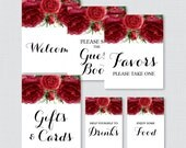 Printable Red Floral Baby...