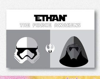 Space Wars Monochrome Party Backdrop/Banner |  Personalised Digital file