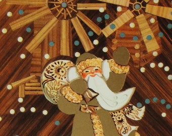 Happy New Year! Vintage Soviet Postcard. Illustrator Glikshteyn - 1972. USSR Ministry of Communications Publ. Santa Claus, Father Frost