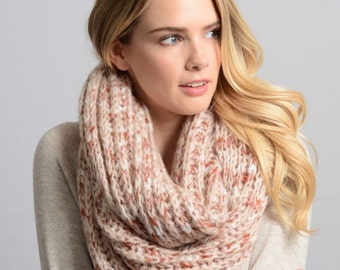 Logan - womens infinity scarf, scarves, knit, knitted, crochet,