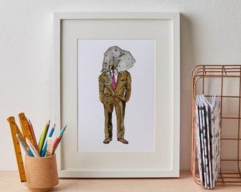 Elephant Man Print A4