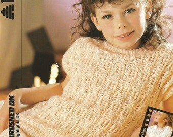 Instant Download - PDF- Vintage Patons Pretty Sleeveless Top Knitting Pattern  (C26)