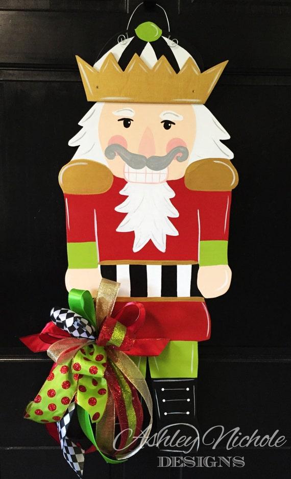 Nutcracker christmas door decor wood