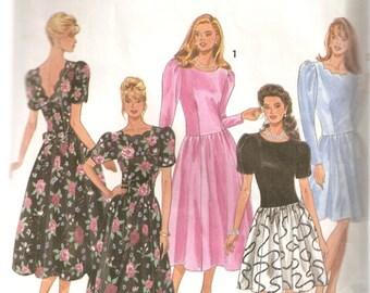 VINTAGE Simplicity Sewing Pattern 8178 - Women's Petite Clothes - Misses Dress, Size P 12-16