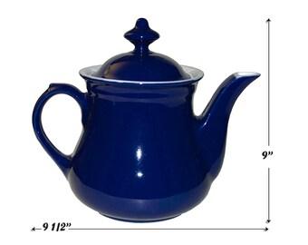 Hall China Million Dollar Marine Blue Coffee Pot / Server