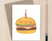 Birthday Burger - A2 Greeting Card