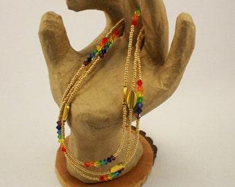 """17""""  Swarovski Rainbow Necklace"""