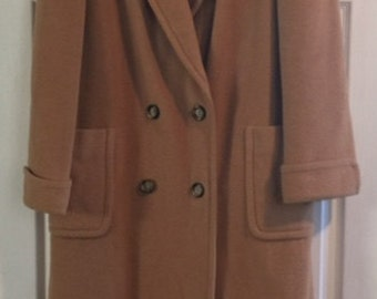 100 % Camel Hair Coat REGENCY Luxurious Classic High Quality Jacket ( Medium )