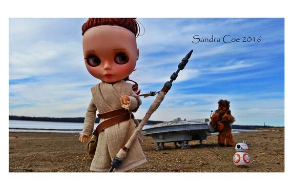 "Blythe Art Print ""Star Wars Rey"" 12x18 Poster by Sandra Coe, Big Eye Doll Photography"