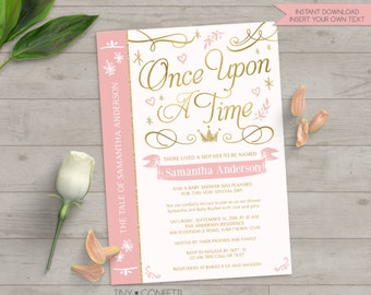 once upon a time baby shower once upon a time baby shower invitation