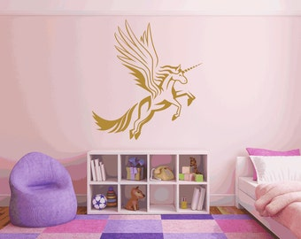 Mythical Flying Unicorn Wall Sticker Decal (*69)