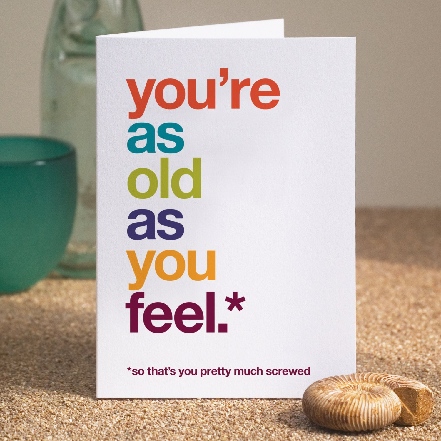 Funny Birthday Card Witty Birthday Card Sarcastic Birthday