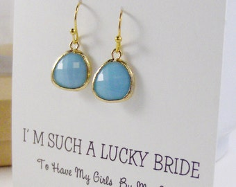 Gold Turquoise,Turquoise Bridesmaid,Aqua Bridesmaid,Turquoise Earring,Blue Bridesmaid,Gift,Blue Earring,Jewelry Sets,valleygirlwedding