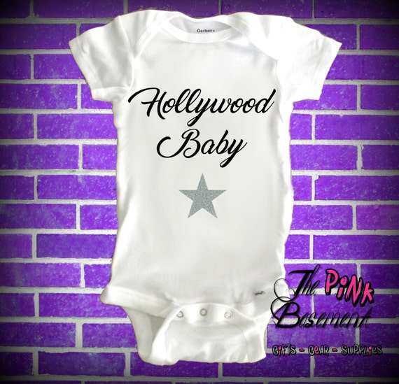Baby hollywood star clothes actor funny clothing kids funny unisex