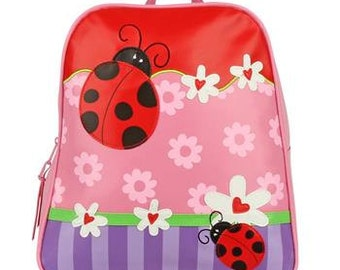 Stephen Joseph Go Go Backpack Lady Bug Monogrammed School Backpack