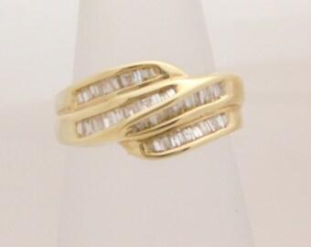 0.80 Carat T.W. Ladies Baguette Cut Diamond Band 14K