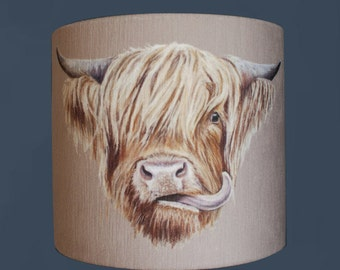 Highland Cow 30cm Diameter Large Lampshade
