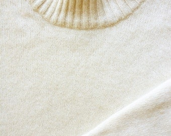 1980s Ivory Rare Cashmere and Cotton Sweater I Magnin