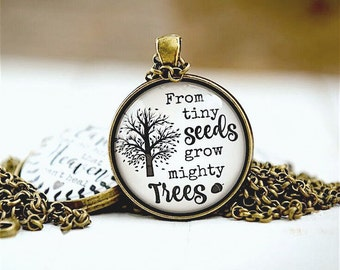 Teacher's Gift, Gift For Teacher, From Tiny Seeds Grow Mighty Trees