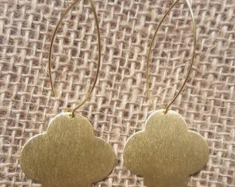 Quatrefoil earrings | Gold Plated Clover Earrings | Women Jewelry