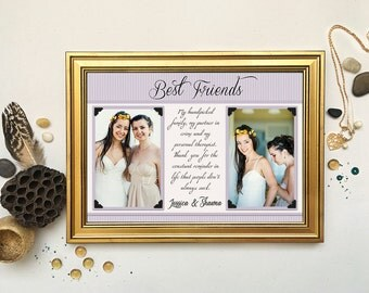 Sister Maid of Honor Gift, Matron of Honor Thank You, Personalized Bridesmaid Picture Frame, Custom Wedding Gift