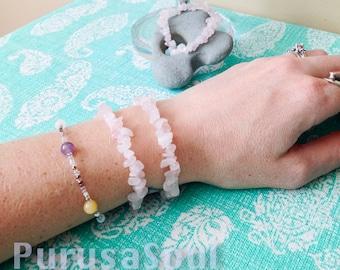 25% OFF ROSE QUARTZ Gemstone Bracelet - One Size Fits All, Healing Gemstones, Pink