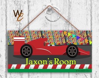 Cars Door Sign Etsy - Car sign and name