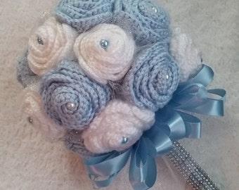 Crochet quinceanera bouquet, flower bouquet, wedding bouquet, crochet flower bouquet