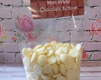 150gr Mini White Chocolate Buttons = Personalised Gift Pack