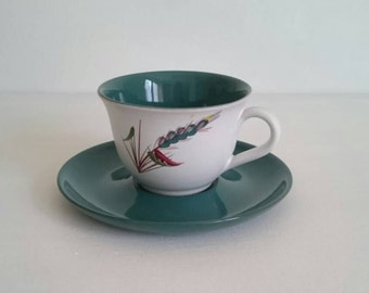 Vintage Greenwheat Denby Tea Cup and Saucer by Albert Colledge
