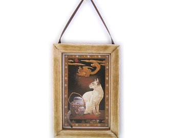 White Cat Picture, Cat Magnet, Crazy Cat Lady, Housewarming Gift, Thank You Gift, Small Cat Gift, Gift For Him, Gift For Her, Fridge Magnet