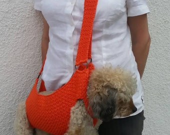 Cotton Pet carrier / Crochet dog carrier / BubaDog pet summer carriers