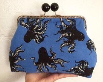 Japanese octopus framed clutch purse Octopurse