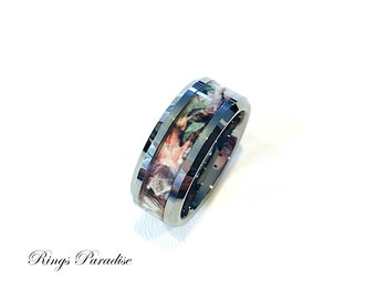 wedding band tungsten band his hand hers ring promise rings tungsten - Camo Wedding Ring Sets His And Hers