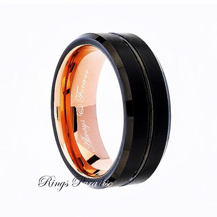 Tungsten engagement bands tungsten rose gold ring for Tungsten wedding ring reviews