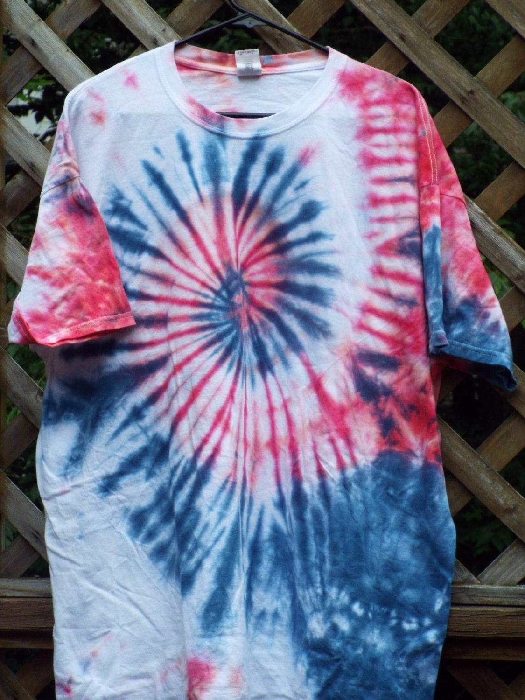 2xl Red White And Blue Tie Dye Swirl Tshirt Patriotic Shirt