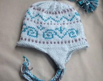 Nordic ear flap tassel hat