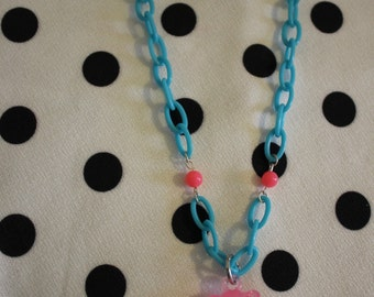 Necklace bear pink