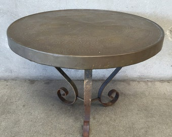 Hammered Moroccan Medallion Table (E54EP4)